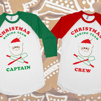 Christmas Baking Team | Baseball Tee | Christmas Shirts Baking Shirts Santa Shirt Red Green Sizes S M L XL