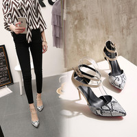 Summer Stylish High Heel Fashion Pointed Toe Sandals = 4871047364