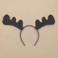Moose Antlers headband birthday party favors woodland camping woods forest creature outdoor halloween costume photo booth child baby adult