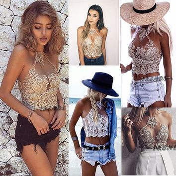 Sought-After Women Lace Floral Bralette Bralet Bra Bustier Crop Tops Cami UnPadded Tank