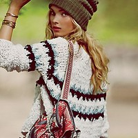 Free People  Fuzzy Fairisle Pullover at Free People Clothing Boutique