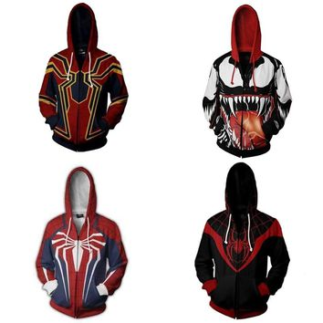 Limited Edition Spider-man Avengers Hoodie Jacket