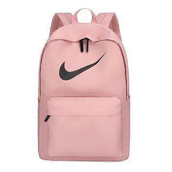 NIKE 2019 simple canvas new men and women backpack Pink