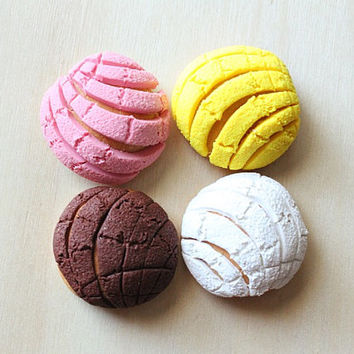 Mexican Concha Pan Dulce Magnets or Charm