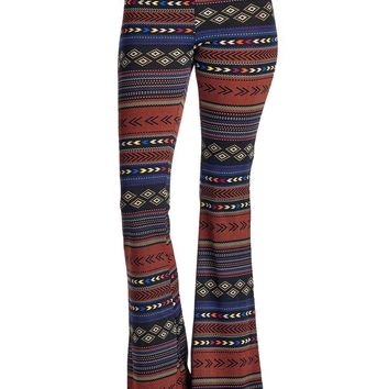 Women's Geo Stripe Flare Pants