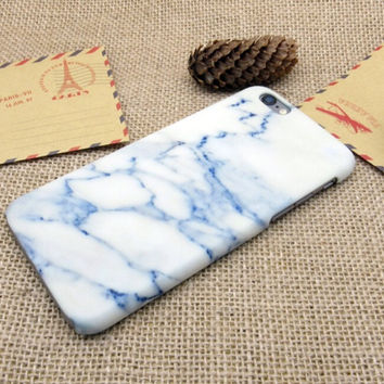 Sky Blue Marble Best Protection iPhone 7 7 Plus & iPhone 6 6s Plus & iPhone 5s se Case Personal Tailor Cover + Gift Box