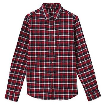 Women Organic Cotton Flannel Shirt