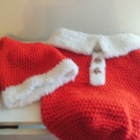 Christmas Newborn Cocoon and Santa Hat