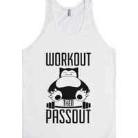 Workout Then Passout-Unisex White Tank