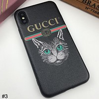 GUCCI Tide brand cat head wild couple models iphonex mobile phone case cover #3