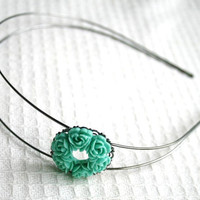 Mint Headband Hippie Chic headband for woman and by AngelPearls