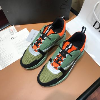 Dior  Man Fashion Casual Shoes Men Fashion Boots fashionable Casual leather Breathable Sneakers Running   Shoes Sneakers