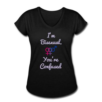 Women's ZMK Style Bisexual T shirt LGBTQ Equality Gay Pride (S-2XL) 8 Colors