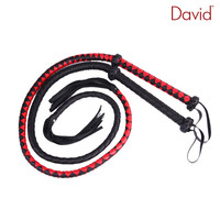 David Grid Knitted Leather Whip Submissive Slave Punish Kit Slap Spanking Dominated Kinky Fetish BDSM Torture Gear Adult Sex Toy