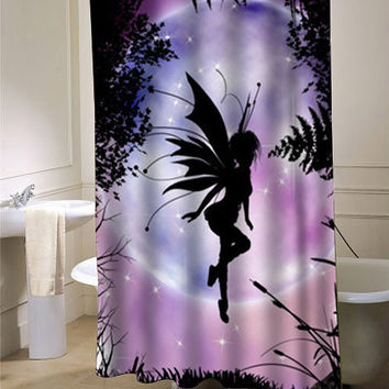 fairi moon shower curtain customized design for home decor