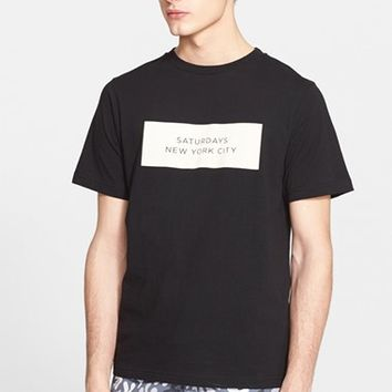Men's Saturdays NYC 'New York City Label' Graphic T-Shirt,