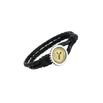 NYC Authentic Token Sterling Silver & Leather Bracelet