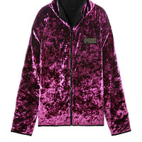 Limited Release Reversible Sherpa & Velvet Full-Zip - PINK - Victoria's Secret
