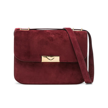Victoria Beckham Suede Eva Bag in Bordeaux | FWRD