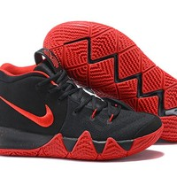 Nike Men's Kyrie Irving 4 Black/Red Basketball Shoes US7-12
