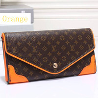 LV Women Leather Zip Wallet Purse