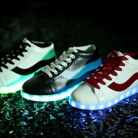 Winter Lightning Round-toe High-top Couple Noctilucent Shoes [6734570695]