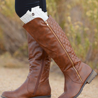 Never Look Back Boots - Cognac