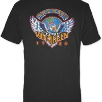 Van Halen Concert T-shirt - Van Halen 1984 Tour of the World | Men's Black T-shirt