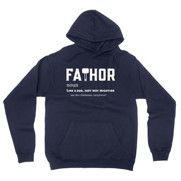 Fathor like a dad just mightier hoodie