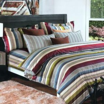 Cottage Stripe] Luxury Comforter Set Combo 300GSM
