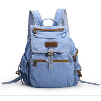 BP083001.Hot Sale Womens fashion denim Backpack,Girls Casual Travel canvas denis vintage school backpack.Free Shipping