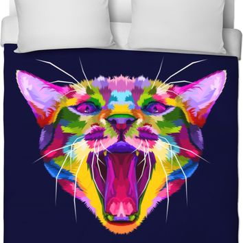 ROb Cats Meow Duvet Cover