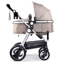 Newborn Baby Stroller for Infant and Toddler Folding Convertible Baby Carriage Luxury High View Anti-shock Infant Pram  with Cup Holder