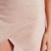Missguided - Wrap Mini Skirt Taupe