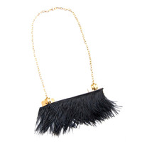 Statement Feather Fringe Necklace | Noémiah