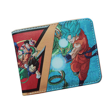 Dragon Ball Wallets Japan Cartoon Wallet Young Women Men Comics Purse Leather Money Bag Credit Card Holder Game Wallet Christmas