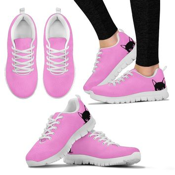 Cat Peeking Shoes (pink)