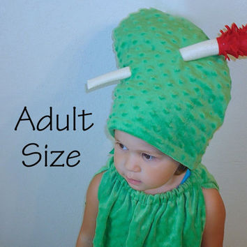 Adult Pickle Costume Halloween Costume Teen Pickle with Toothpick Photo Prop