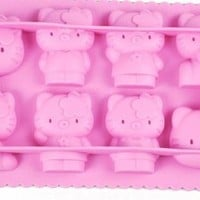 New Hello Kitty Ice Cube Tray 8-tray Pink Silicone Ice Mold Party Favor Birthday Gift