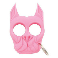 Pink Brutus The Bulldog Self Defense Keychain