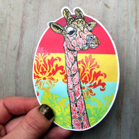 Giraffe Vinyl Decal- Waterproof Sticker