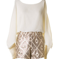 Glam Romper - Gold and Ivory