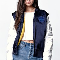 adidas - Rita Ora Cosmic Confession Satin Bomber Jacket - Womens Jacket - Blue