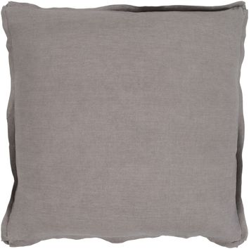 Solid Linen Thrown Pillow - Taupe