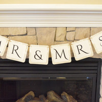 Mr. & Mrs. Banner, Party Decorations, Photo Props, Engagement Photo Prop, Wedding Photo Prop, Wedding Photography