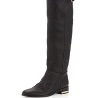 Soft Slouchy Knee Boot, Black - Burberry - Black