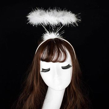 FEITONG Ladied Fluffy Halo Angel Headband Fairy Fancy Dress Party Hairband New  #A30