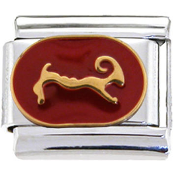 RED Zodiac Sign ARIES Italian Charm