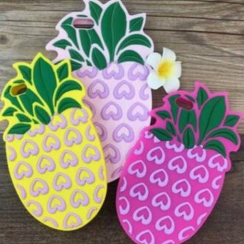 The New Fashion Pineapple IPhone Protective Case + Nice Gift Box
