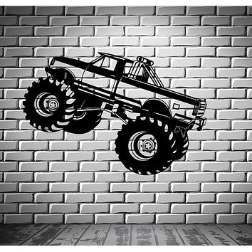 Monster Truck Wall Stickers Car Pickup for Garage SUV Sport Vinyl Decal Unique Gift (ig919)
